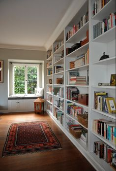 Floor to ceiling, wall to wall bookshelves; that's the ticket!  Green Home Builders, LLC