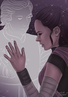"""its-crystalmoon: """"Why is the force connecting us? YOU and I ♥ I'm trying new layouts drawings, I hope you guys liked """""""