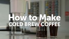 How to brew illy cold brew coffee with the toddy cold brew coffee system. Brazil Coffee, Making Cold Brew Coffee, My Starbucks, Coffee Uses, Brewing, Tea, How To Make, Essentials, Foods