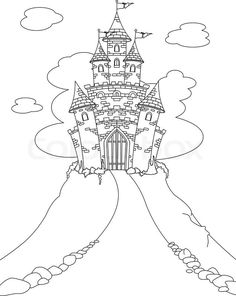 1618213 coloring page with magic fairy tale princess