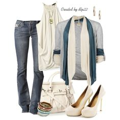 Cream, created by dlp22 on Polyvore