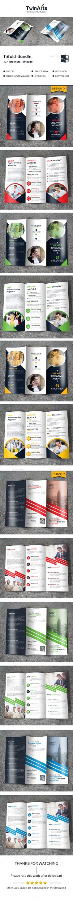 2 Tri-fold Brochure Template PSD. Download here: http://graphicriver.net/item/trifold-bundle_2-in-1/16801265?ref=ksioks