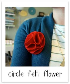 Circle Felt Flower - craftiness is not optional