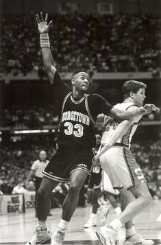 Alonzo Mourning playing for Georgetown