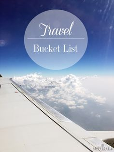 From Canada to Iceland, from Bali to New Zealand: Places that are on my travel bucket list!