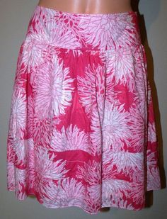 Gap Size 4 Lined Pink Floral Knee Length A-Line Skirt Waist 30 Hips 42 EUC #GAP #ALine
