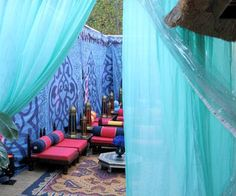 Shoestring Pavilion: Indian/Moroccan inspiration