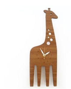 Modern Animal Giraffe Clock by Decoylab | The Modern Shop