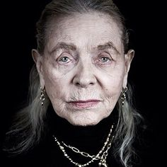 Lauren Bacall at 87 (2012) in a photo by Andy Gotts.