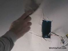 Drywall Installation: Mud and Tape Sheet Rock Repair