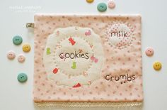 A place mat for milk and cookies.... and crumbs.