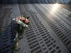 A monument with the names of victims in Potocari Memorial Center near Srebrenica (Courtesy Reuters//Marko Djurica).