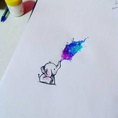 Splash of colour - #colour #Splash #tekenen