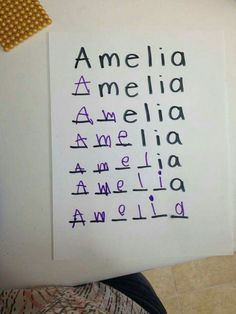 Name spelling activity idea for Preschool.