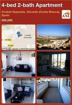 4-bed 2-bath Apartment in Ciudad Quesada, Alicante (Costa Blanca), Spain ►€95,000 #PropertyForSaleInSpain