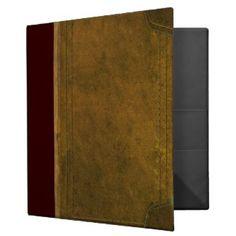 fotoskaljac: old leather book cover 3 ring binder