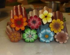 Polymer Clay Tutorial - BackGroundLess Millefiori Flower Cane