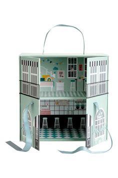 Pahvinen nukkekoti - Mintunvihreä/Kuviollinen - Home All | H&M FI