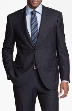 Pal Zileri Trim Fit Stripe Suit   Nordstrom