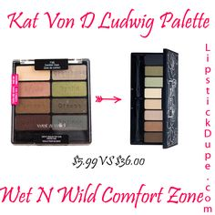 Kat Von D Ludwig Palette Dupe Wet n Wild Comfort Zone Palette Nyx Dupes, Drugstore Makeup Dupes, Lipstick Dupes, Beauty Dupes, Makeup Swatches, Beauty Makeup, Eyeshadow Dupes, Nyx Cosmetics, Mac Satin Taupe