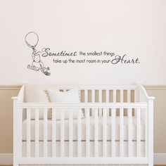 Classic Winnie The Pooh Wall Decals Quotes Sometimes by PonyDecal
