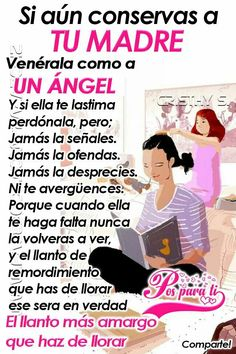 22 Ideas Quotes Love Mom Thoughts For 2019 Mommy Quotes, Mothers Day Quotes, Love Quotes, Sad Quotes, Spanish Inspirational Quotes, Spanish Quotes, Mom Quotes From Daughter, Daughter Love, Love Mom