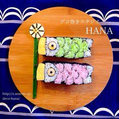 『こいのぼり』の飾り巻き寿司  日本デコずし協会のデコ巻です◡̈♥︎