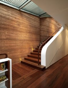 Rammed Earth homes. Intriguing building method.