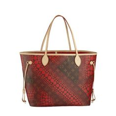 LV Waves Neverfull MM M40686 Red Louis Vuitton Shopper 82a179c90f2ac