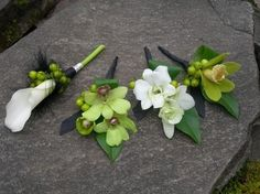 Green White Boutonniere Spring Wedding Flowers Photos & Pictures - WeddingWire.com