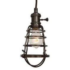 Home Decorators Collection 1-Light Aged Bronze Cage Pendant Light-25415-105 at The Home Depot
