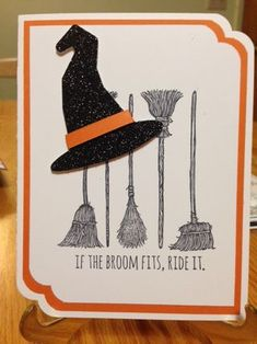 If the Broom Fits Stamp Set from Stampin' Up; Halloween Cards; Curvy Corner Trio Punch Stampin' Up 2015 Holiday Catalog