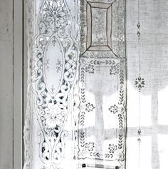 patchwork lace curtain