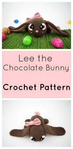 Free Crochet Chocolate Bunny Pattern for Easter! Photo Tutorial, and made easy. In jumbo form