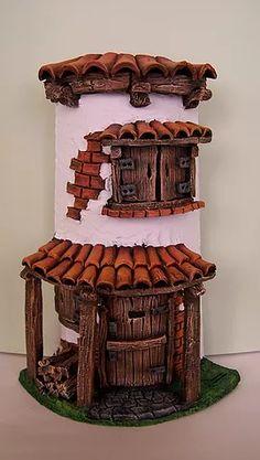 Clay Fairy House, Fairy Garden Houses, Polymer Clay Sculptures, Sculpture Clay, Bottle House, Clay Wall Art, Doll House Crafts, House Cake, Clay Fairies