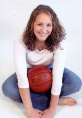 The Senior Pix of Megan, who was an outstanding high school girl's basketball player in the State of South Dakota.  Daniel thinks this pose is just the coolest!!