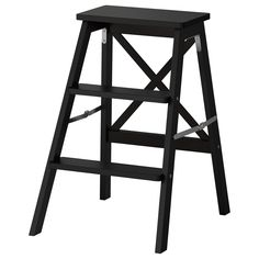 BEKVÄM Trapje, 3 tredes - zwart - IKEA
