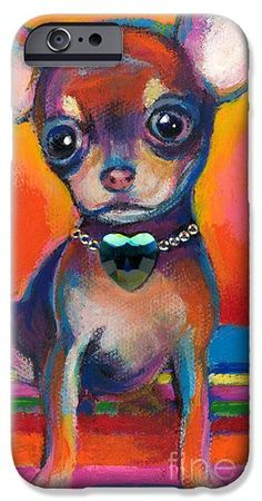 Chihuahua Iphone 6 Cases - Chihuahua dog portrait iPhone 6 Case by Svetlana Novikova