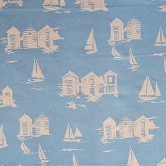 Seaside Fabrics Boats and fishes fabrics for kids rooms and curtains Childrens Curtains, Seaside Theme, Pink Sale, Made To Measure Curtains, Curtains With Blinds, Coordinating Fabrics, Scottie Dog, Texture Design, Blue Fabric