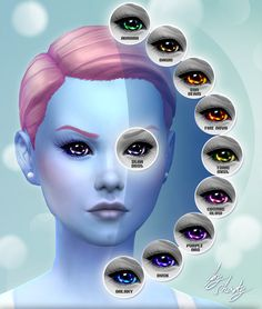 Sims 4 Updates: Mod The Sims - Eyes : Not of This World 10 Custom Alien Eyes by Shady, Custom Content Download!