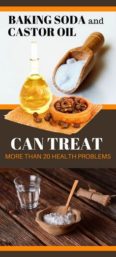 Baking Soda and Castor Oil Can Treat More than 20 Health Problems - Holistic Healthcare Natural Health Remedies, Natural Cures, Natural Healing, Natural Skin, Healthy Lifestyle Tips, Healthy Tips, Organic Lifestyle, Smoothies, Baking Soda Uses