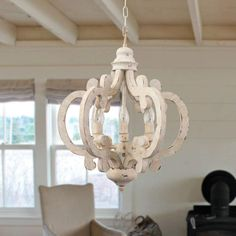 Shop for Cottage Chic Crown Wood Chandelier, Farmhouse Wooden Pendant. Get free delivery On EVERYTHING* Overstock - Your Online Ceiling Lighting Store! Wooden Chandelier, White Chandelier, Lantern Chandelier, Antique Chandelier, Empire Chandelier, Rectangle Chandelier, French Country Chandelier, Farmhouse Chandelier, Kitchen Chandelier