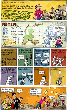 Comic strip in Dutch about 'Nederland Fietsland' by http://www.ronaldvanderheide.nl/