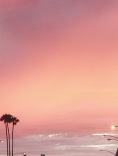 Where the sky and streets are pink
