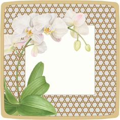 Caspari Winter Whites Silver Floral Printed Square Paper Dinner Plates Wholesale 14030DP