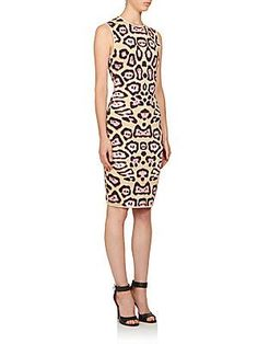 Givenchy Jaguar Print Punto Milano Knit Dress - Color - Size L