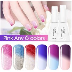 Azure Beauty Soak-off Chameleon Nail Polish UV LED Gel Pick Any 6 Colors 12ML Nail Art Gift Set *** Continue to the product at the image link.