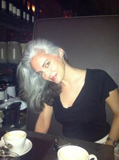 A beauty from my Mentor, Diana Jewell's FB site: Going Gray, Looking Great