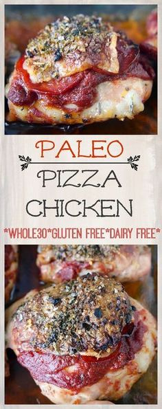 Paleo Pizza Chicken- easy, delicious, and healthy! Whole30, gluten free, dairy free, and low carb!