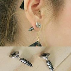 1 Pair Hipsters Screws Stud Earrings 316L Titanium Steel Bigbang G Dragon, http://www.amazon.com/dp/B00H0TUV9Y/ref=cm_sw_r_pi_awdm_KQpHvbVY2A30N